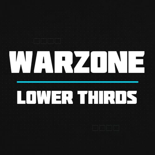 Warzone lower thirds thumbnail
