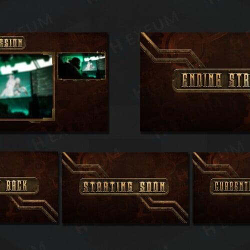 steampunk twitch overlay