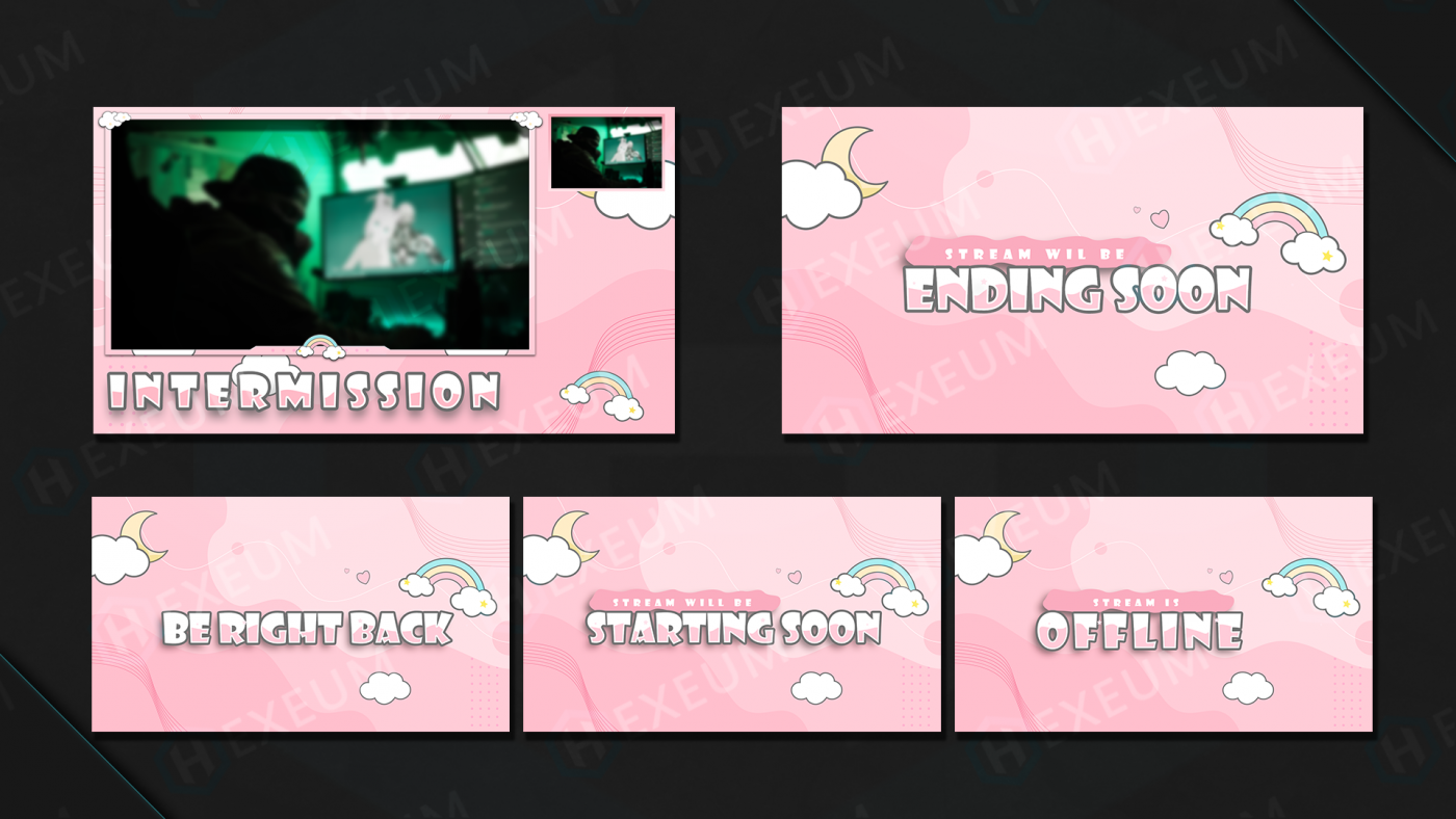 cute twitch overlay