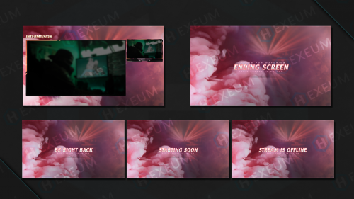 Pink twitch overlay