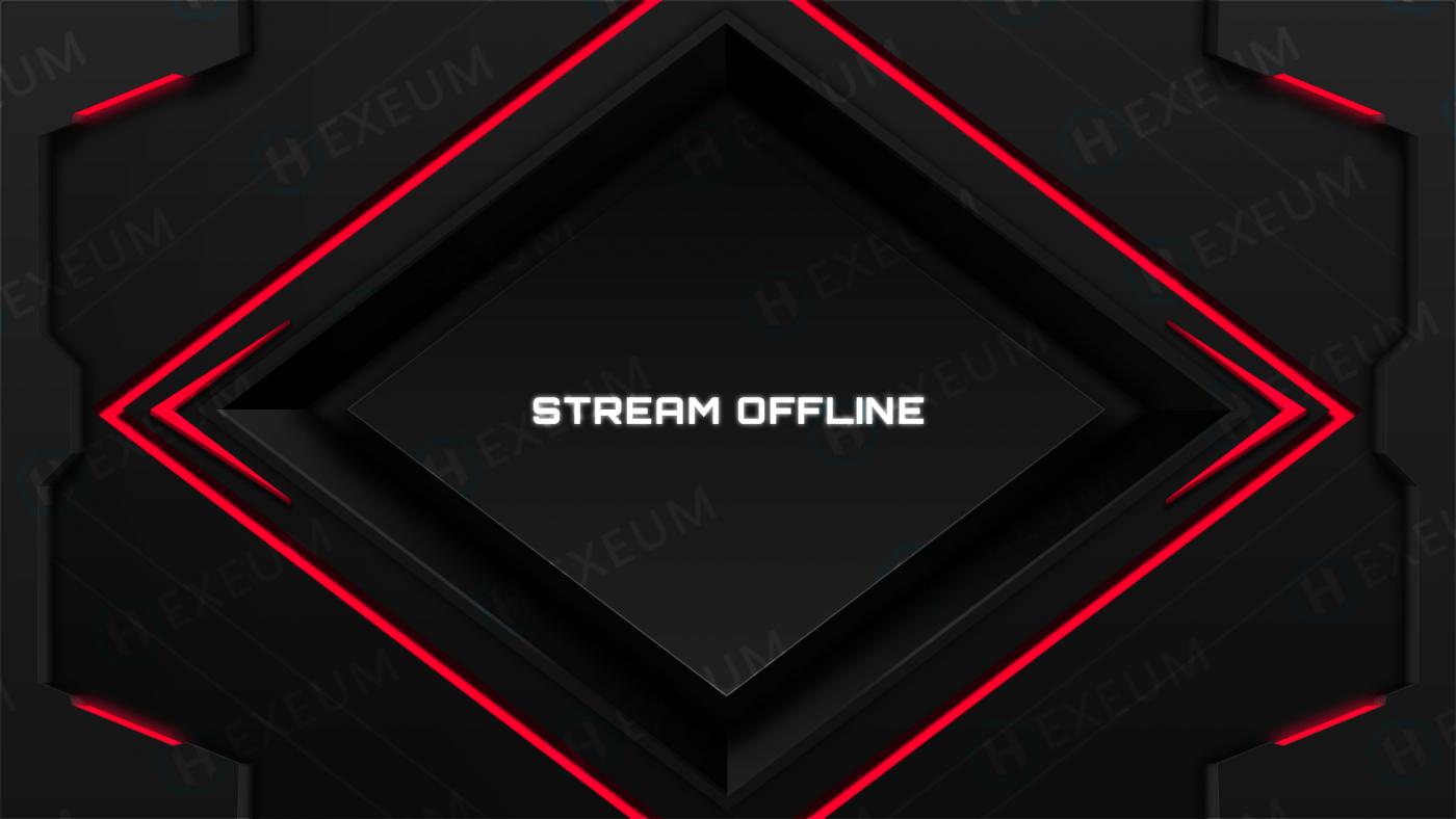 red and black offline banner