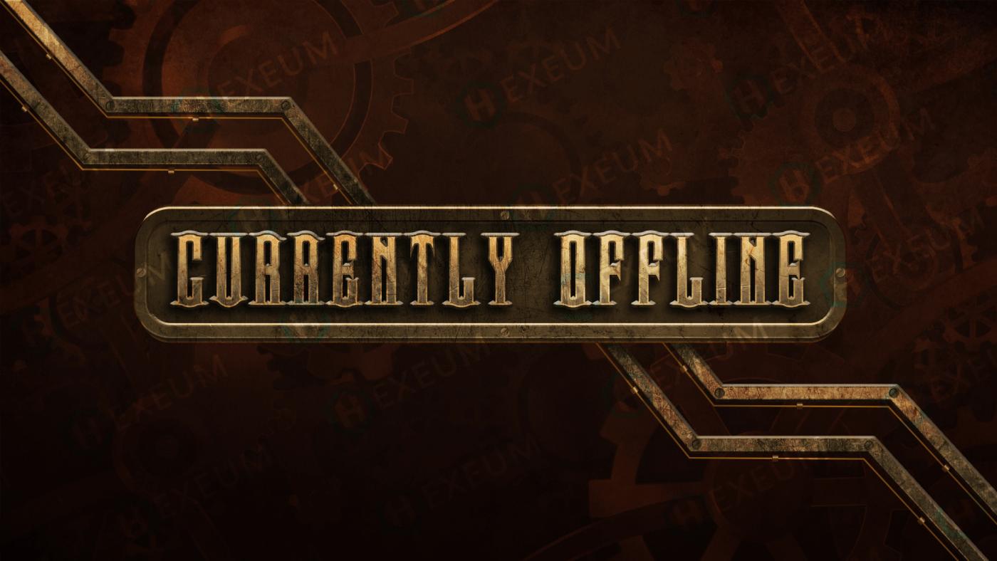 steampunk twitch offline banner