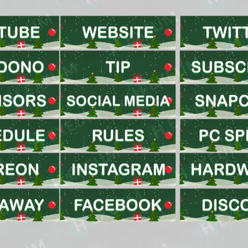 christmas twitch panels