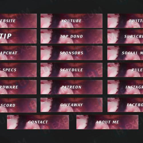 pink twitch panels