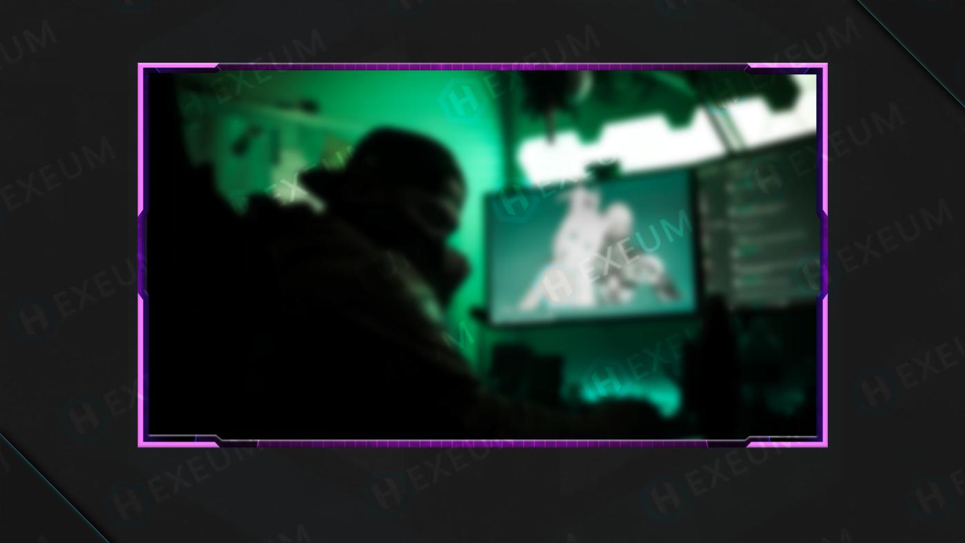 retro webcam overlay