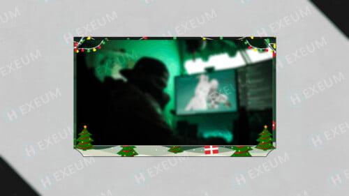 christmas webcam overlay