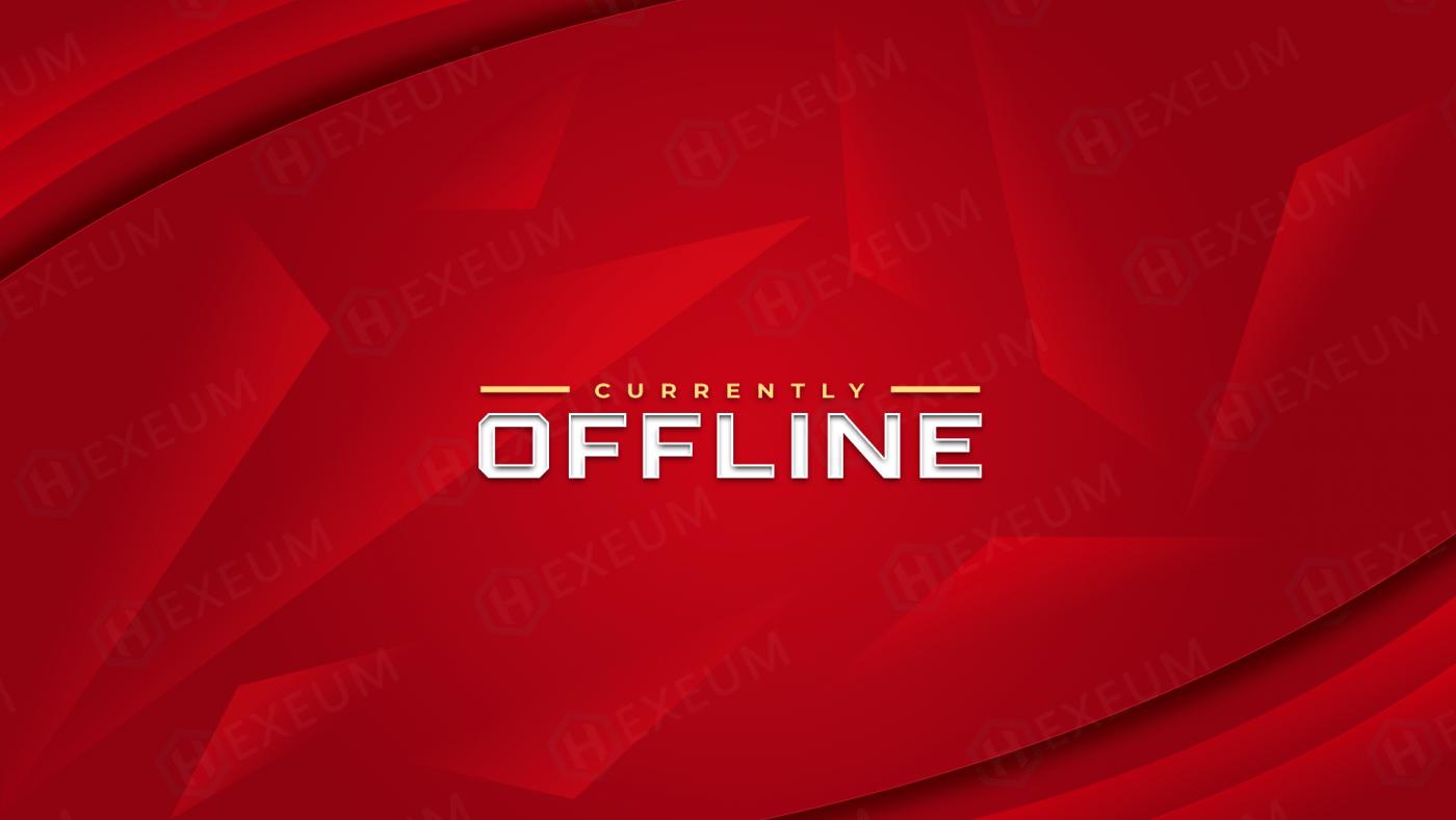 red twitch offline banner