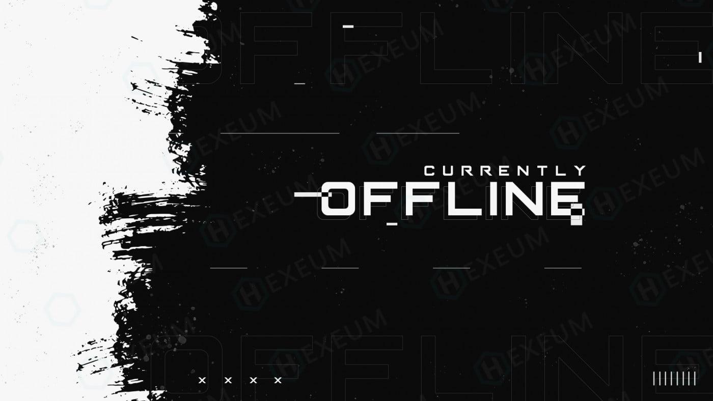 black and white twitch offline banner