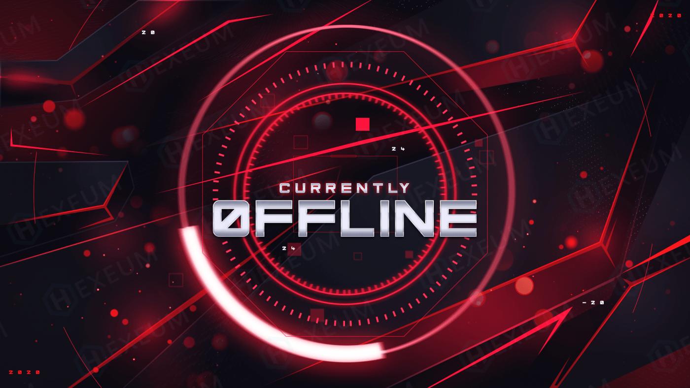 futuristic twitch offline banner