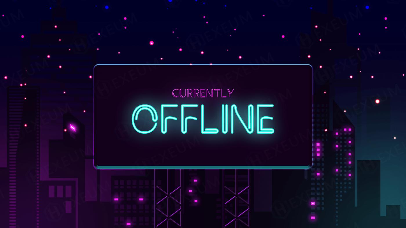 neon twitch offline banner