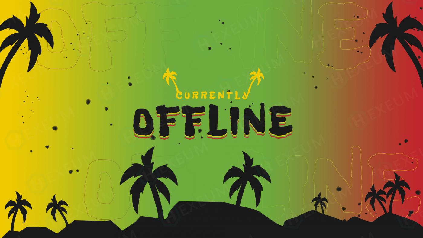 reggae twitch offline banner