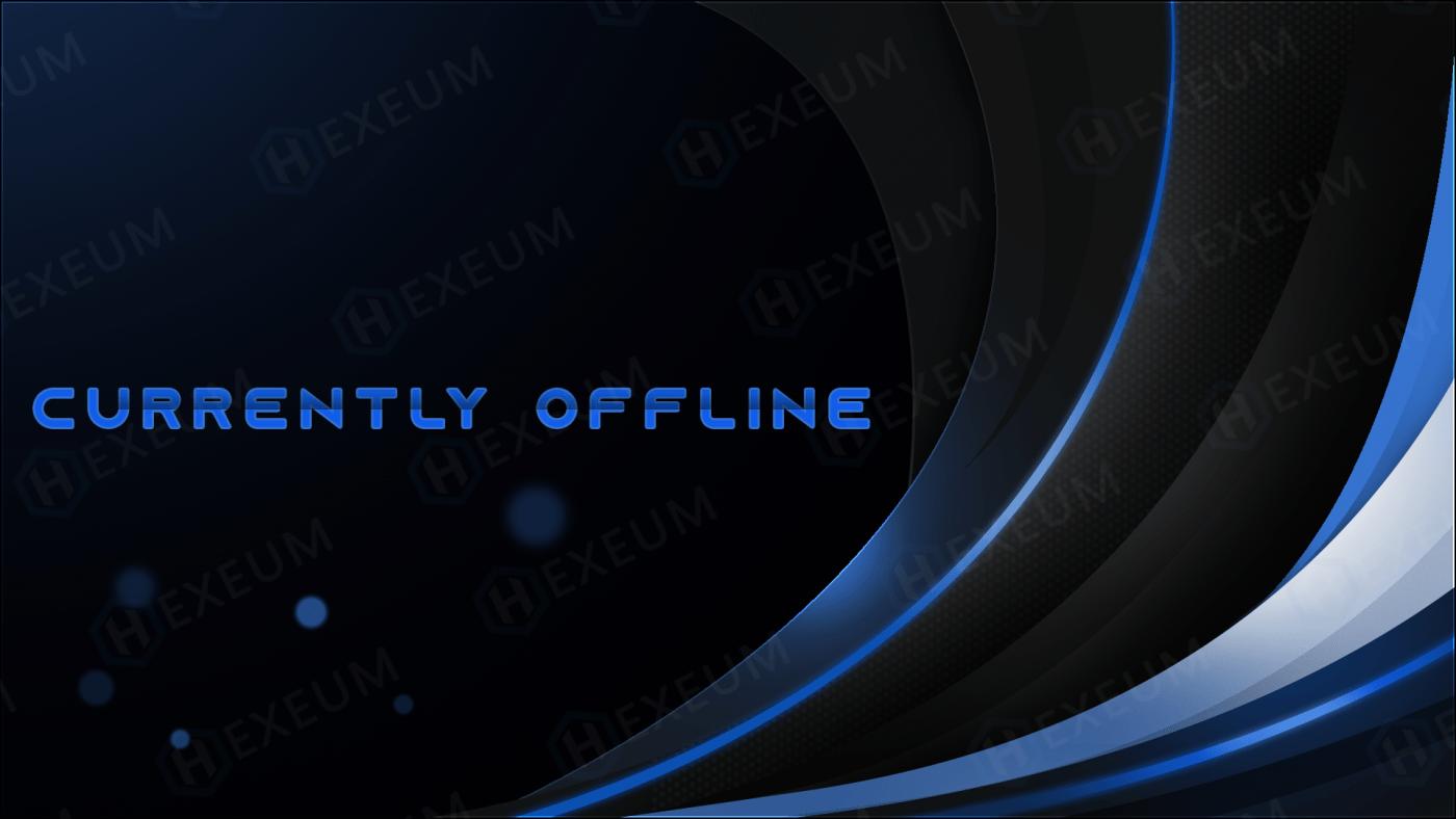dark blue twitch offline banner