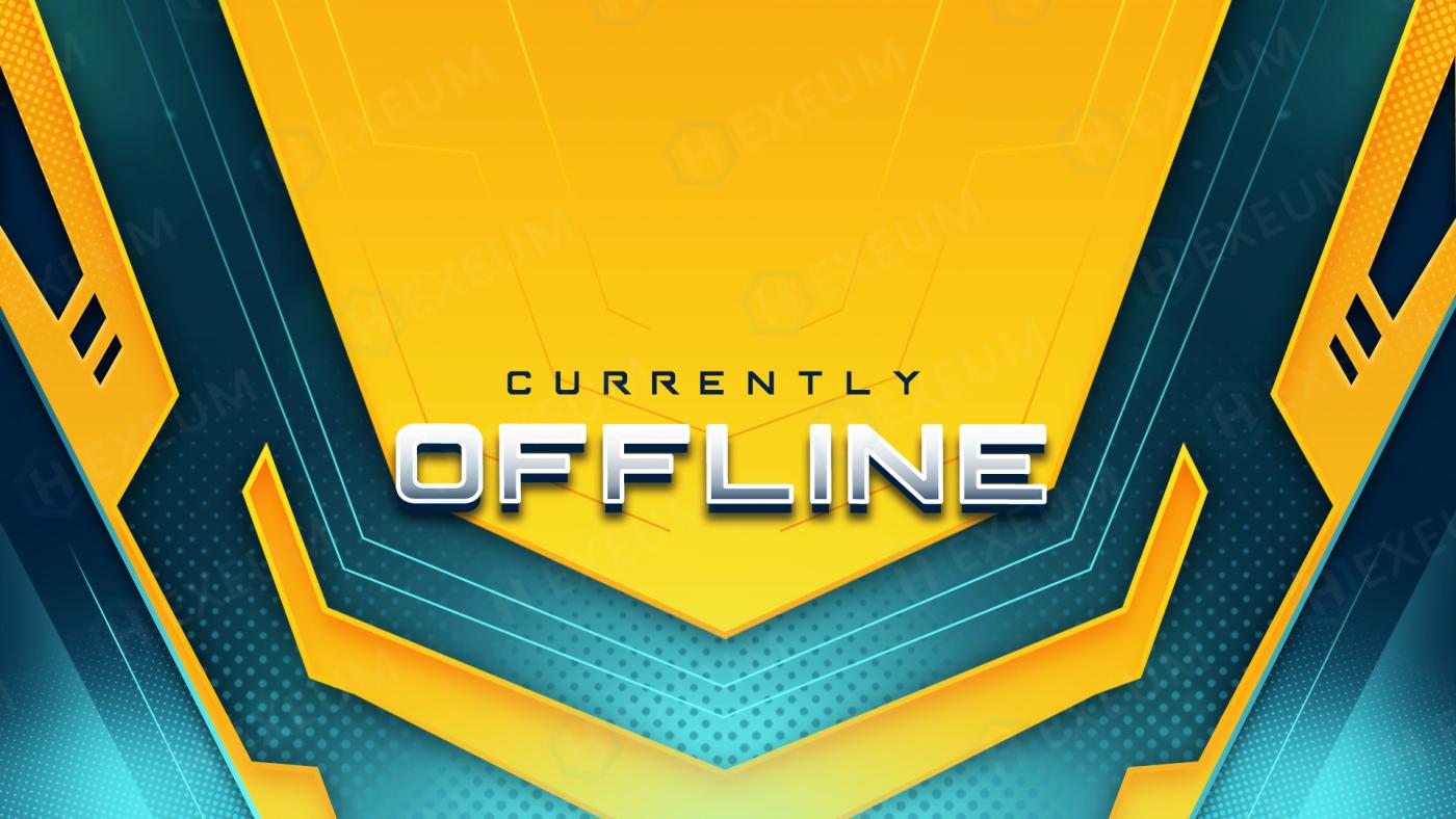 bright yellow twitch offline banner