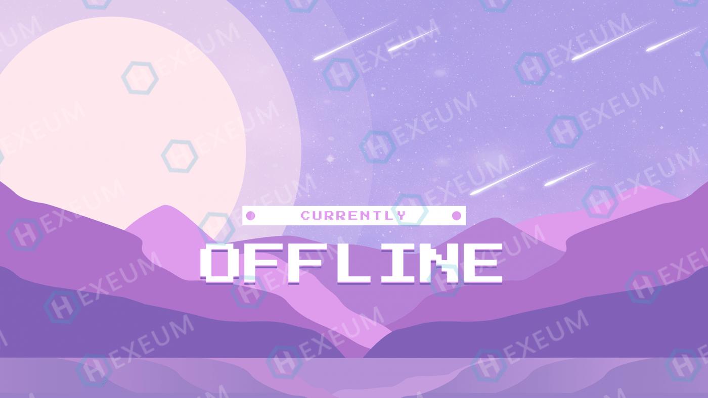 retro pixel twitch offline banner