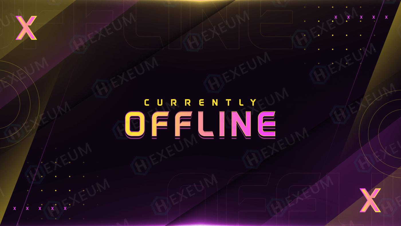 multicolor twitch offline banner