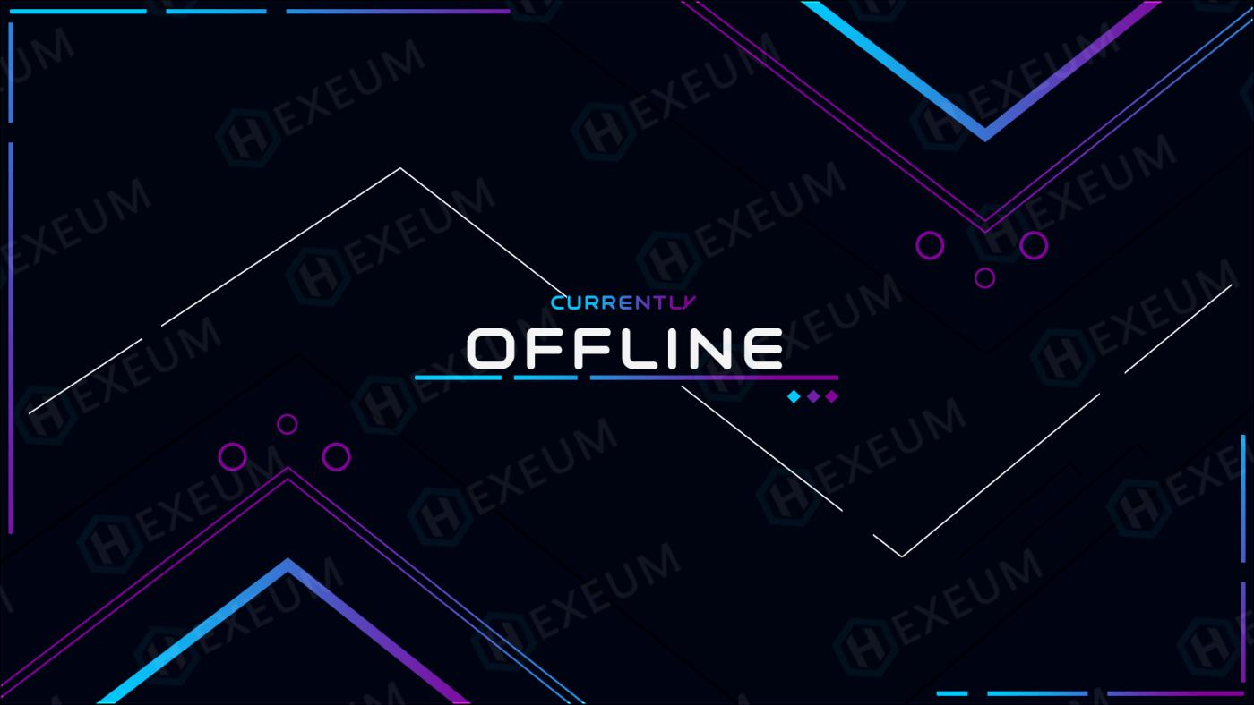 simple twitch offline banner