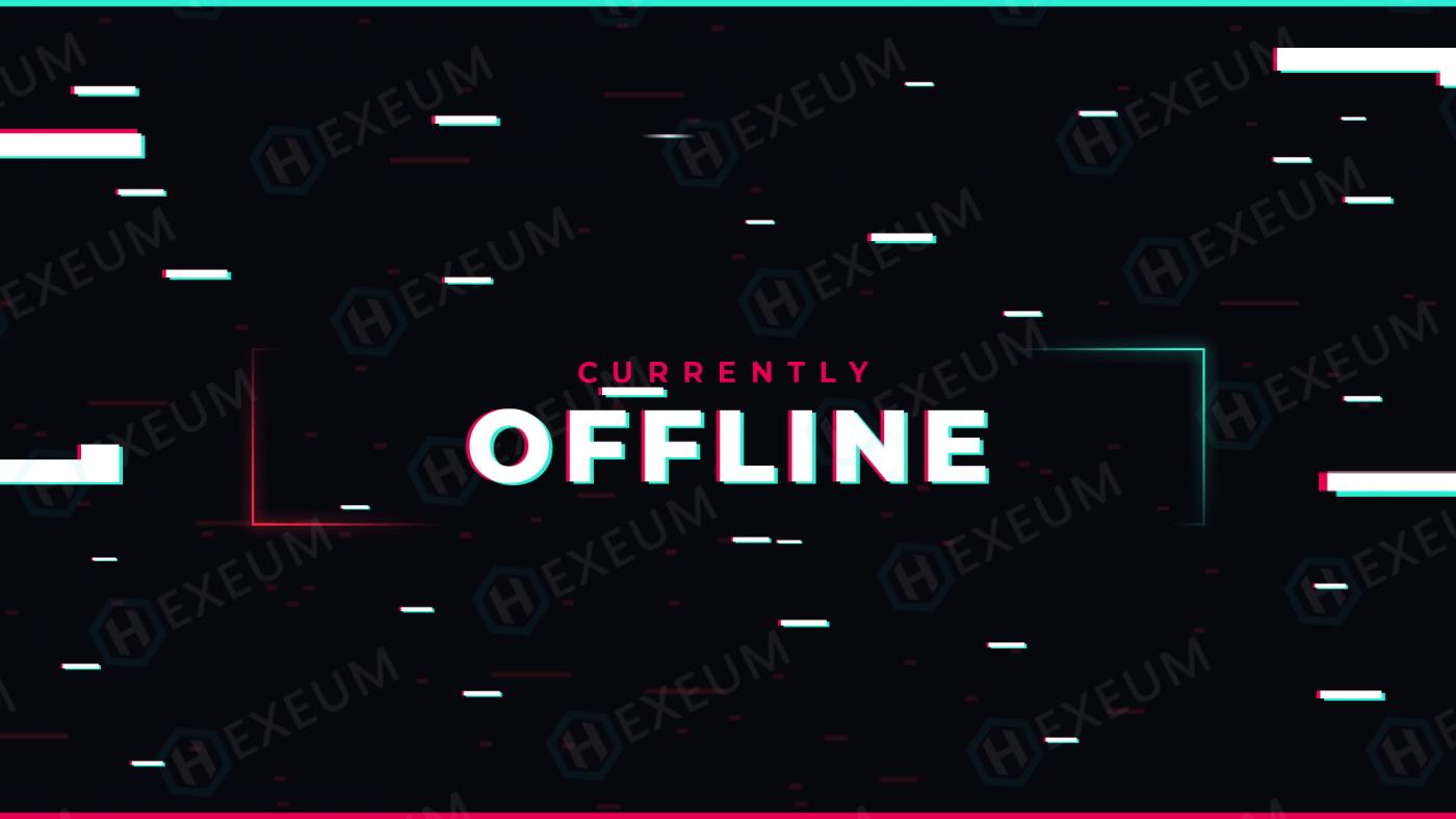 glitch twitch offline banner