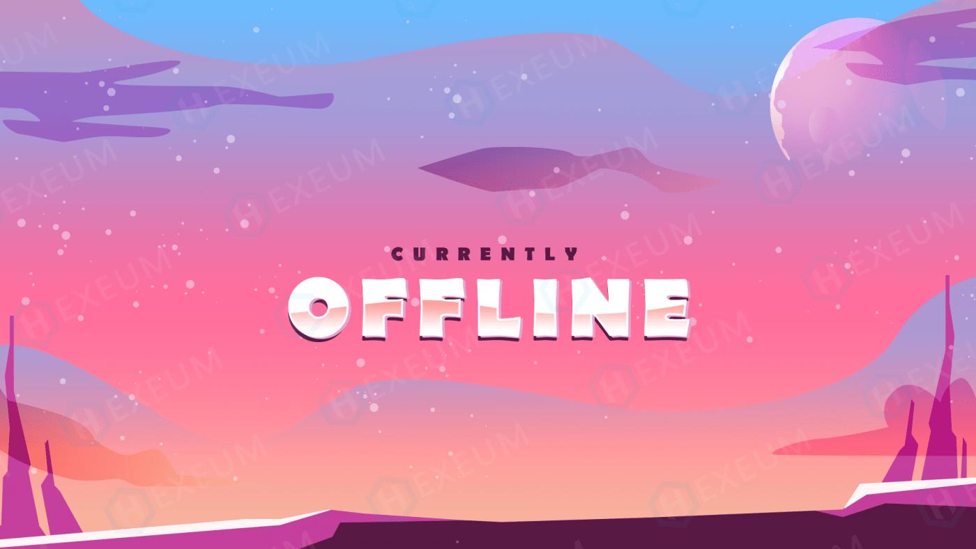 vibrant twitch offline banner