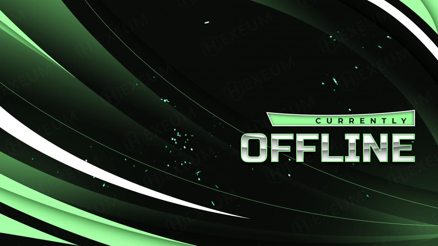mint green twitch offline banner