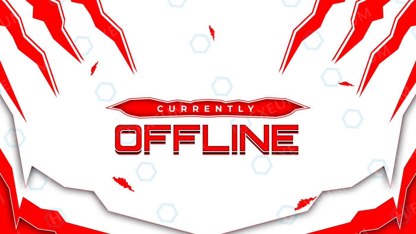 red and white twitch offline banner