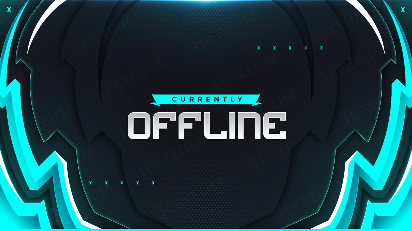 cyan twitch offline banner