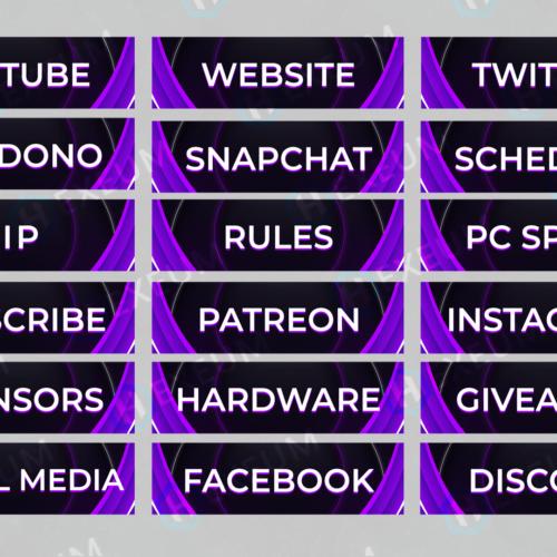 purple twitch panels