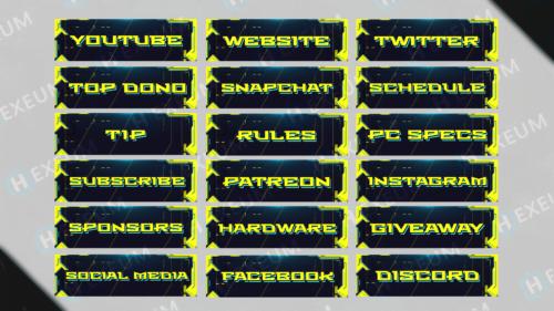 cyberpunk twitch panels