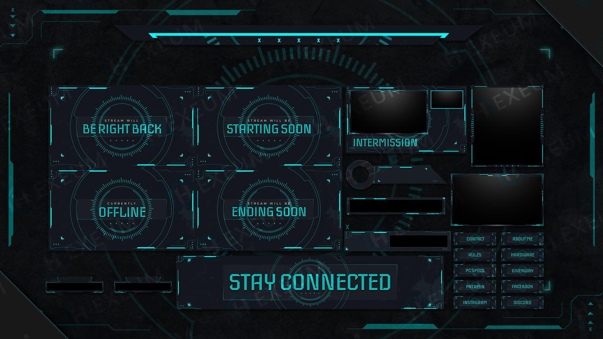 futuristic twitch overlay