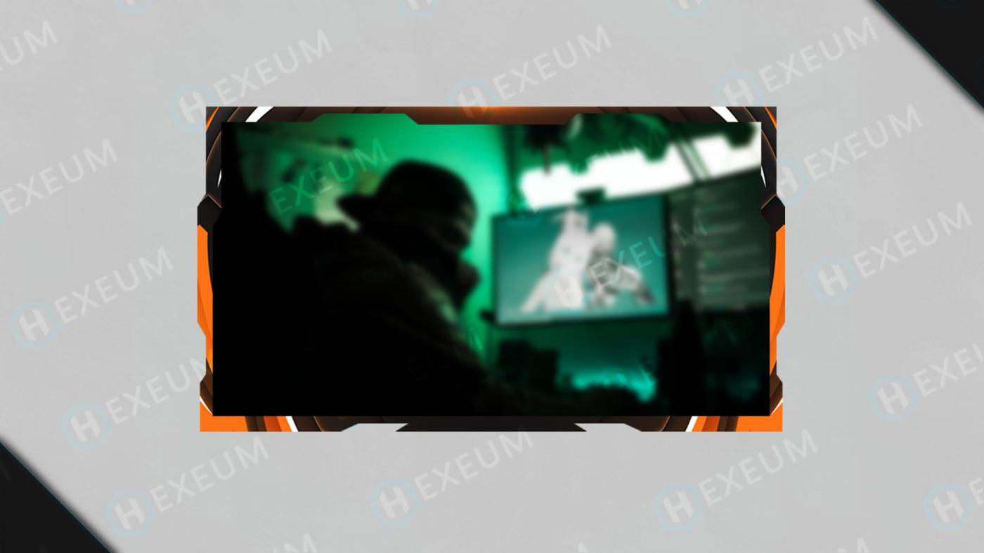 orange webcam overlay