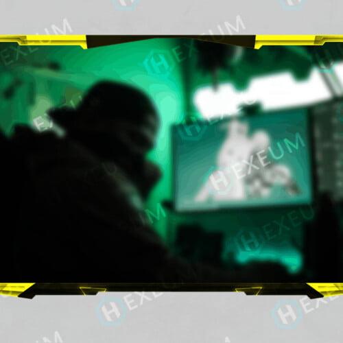 yellow webcam overlay