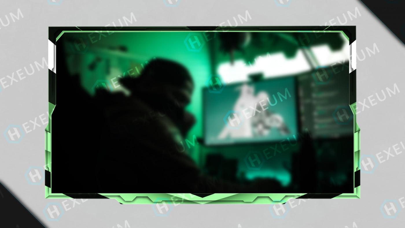 mint green webcam overlay