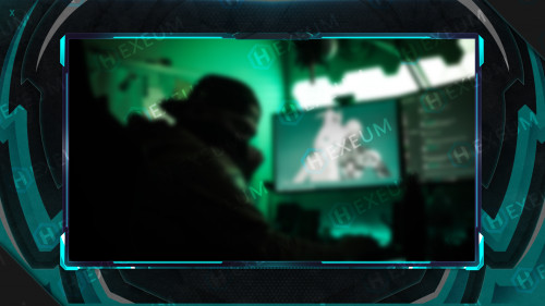 cyan webcam overlay