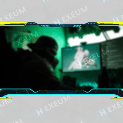 cyberpunk webcam overlay