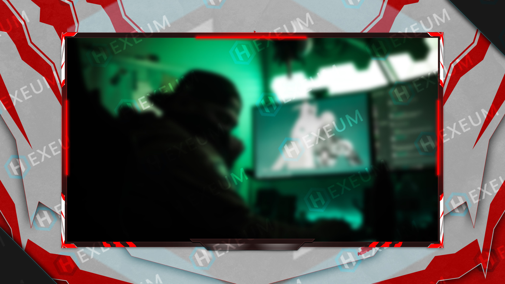 red and white webcam overlay