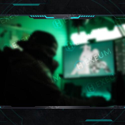 futuristic webcam overlay