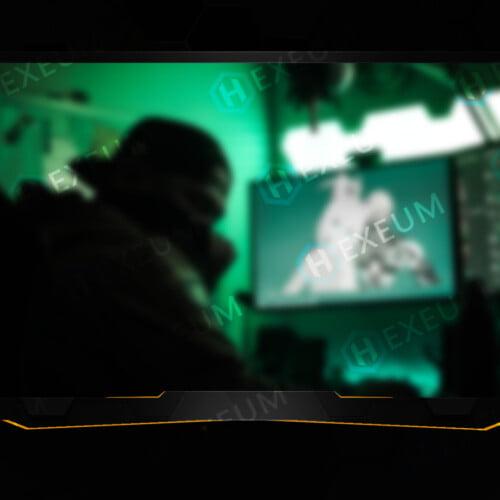 gold webcam overlay