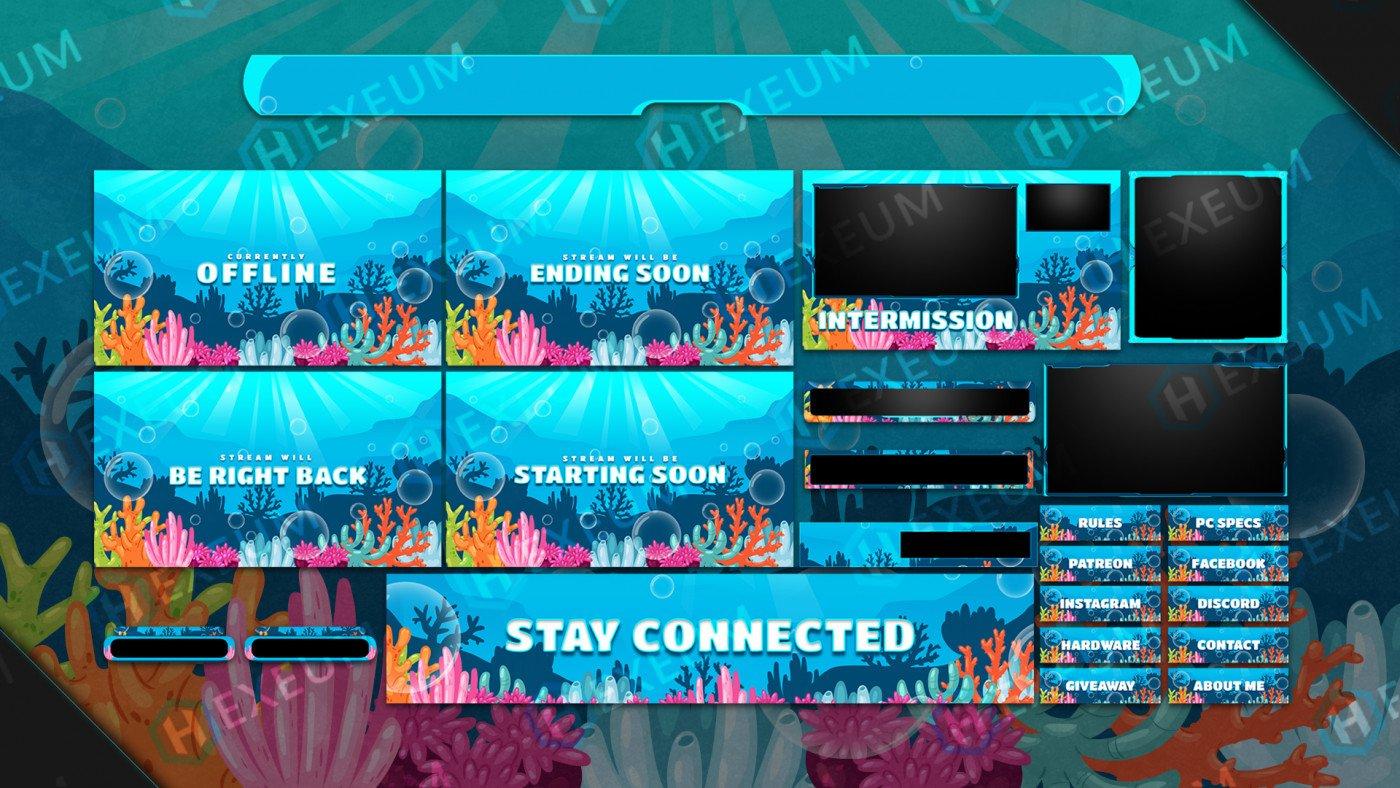 underwater twitch overlay