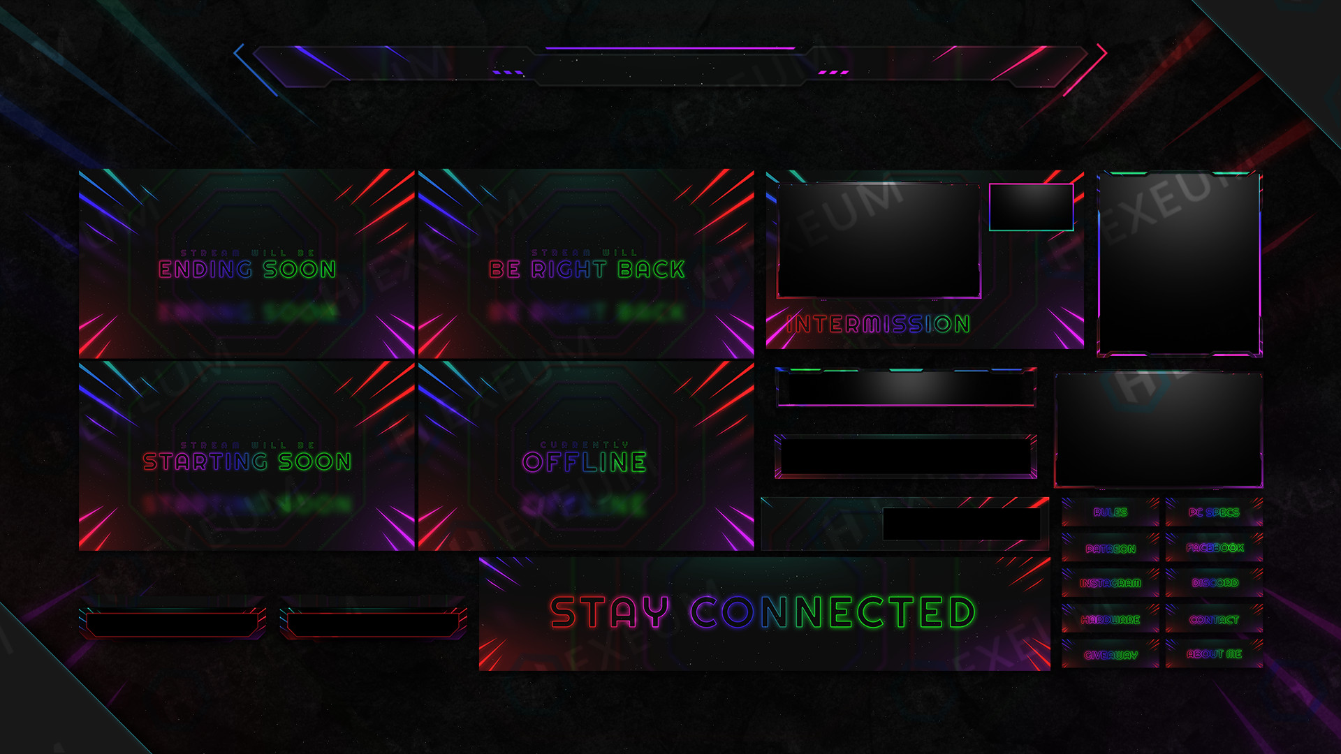 space twitch overlay