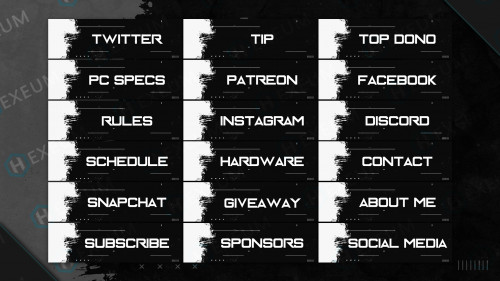 black and white twitch panels