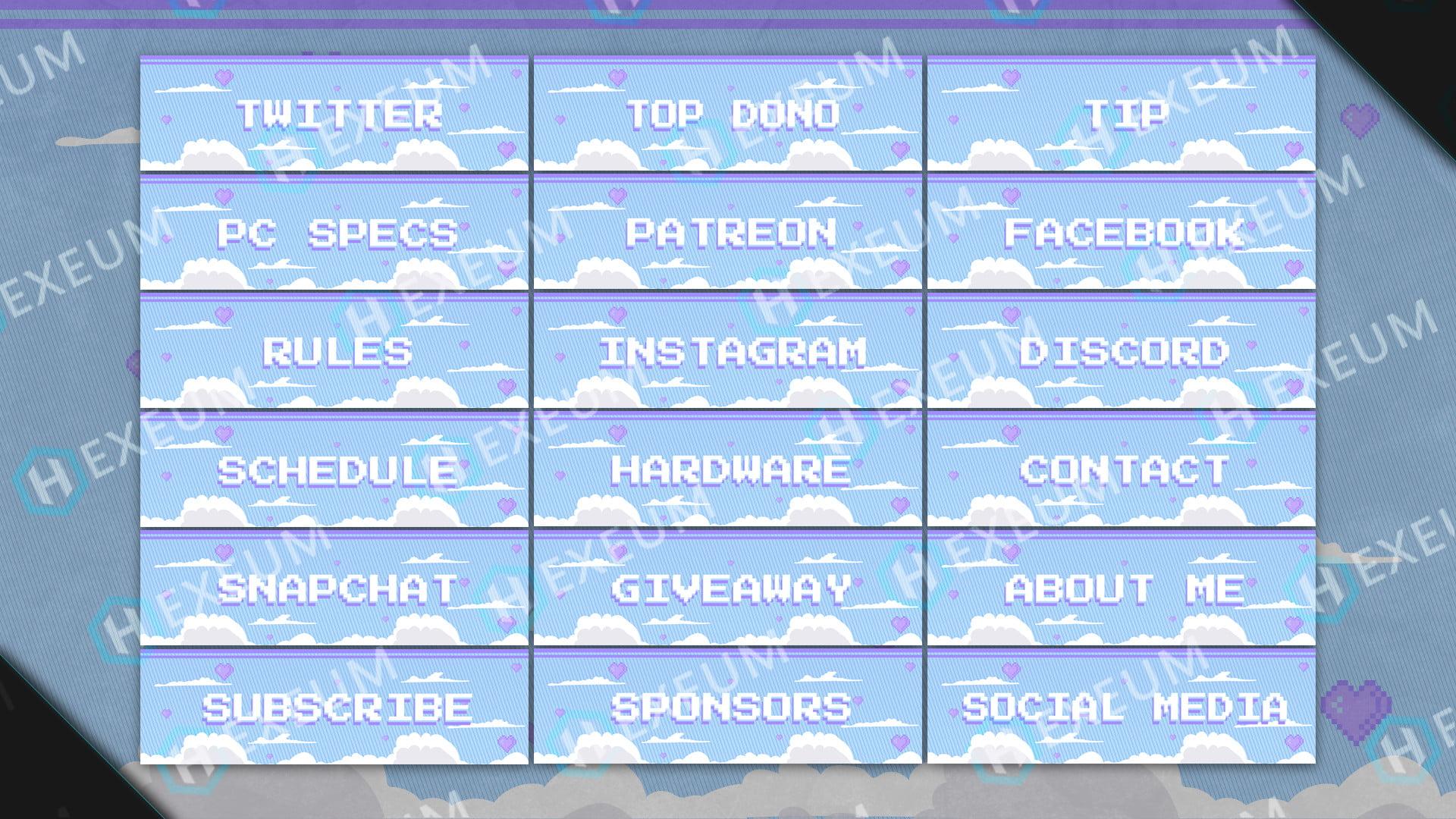 pixel twitch panels