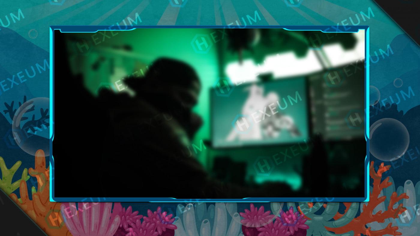 underwater webcam overlay