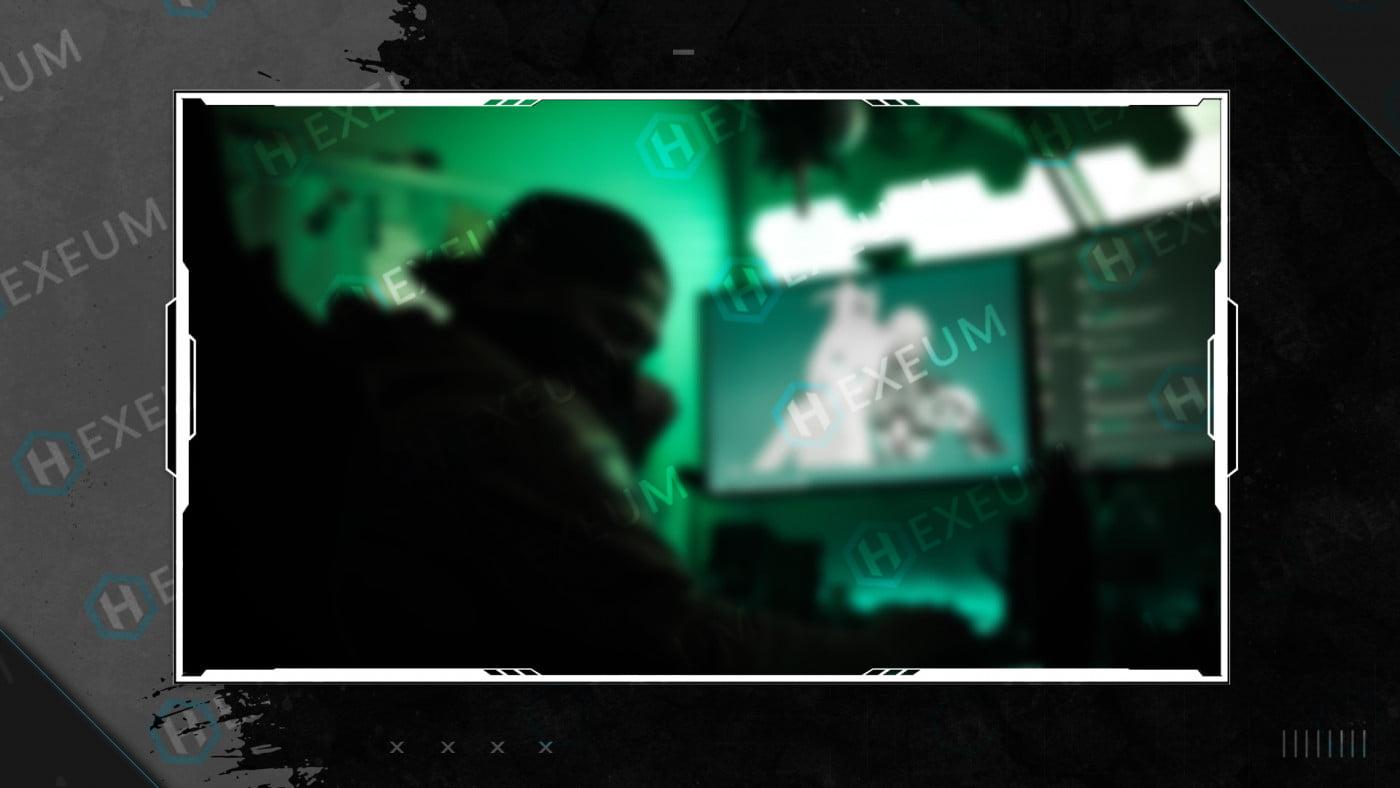 black and white webcam overlay