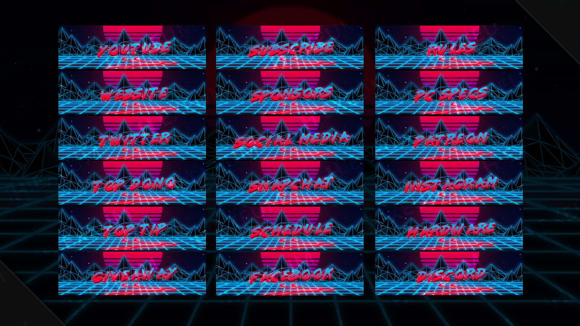 synthwave webcam overlay