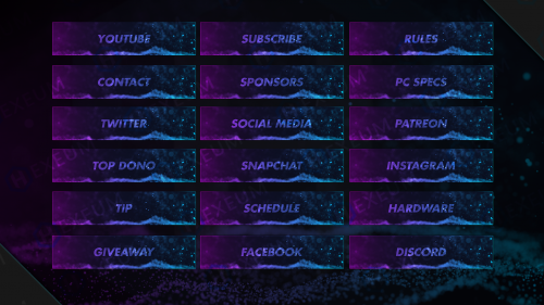 purple and blue twitch panels