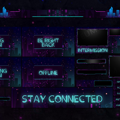 neon twitch overlay