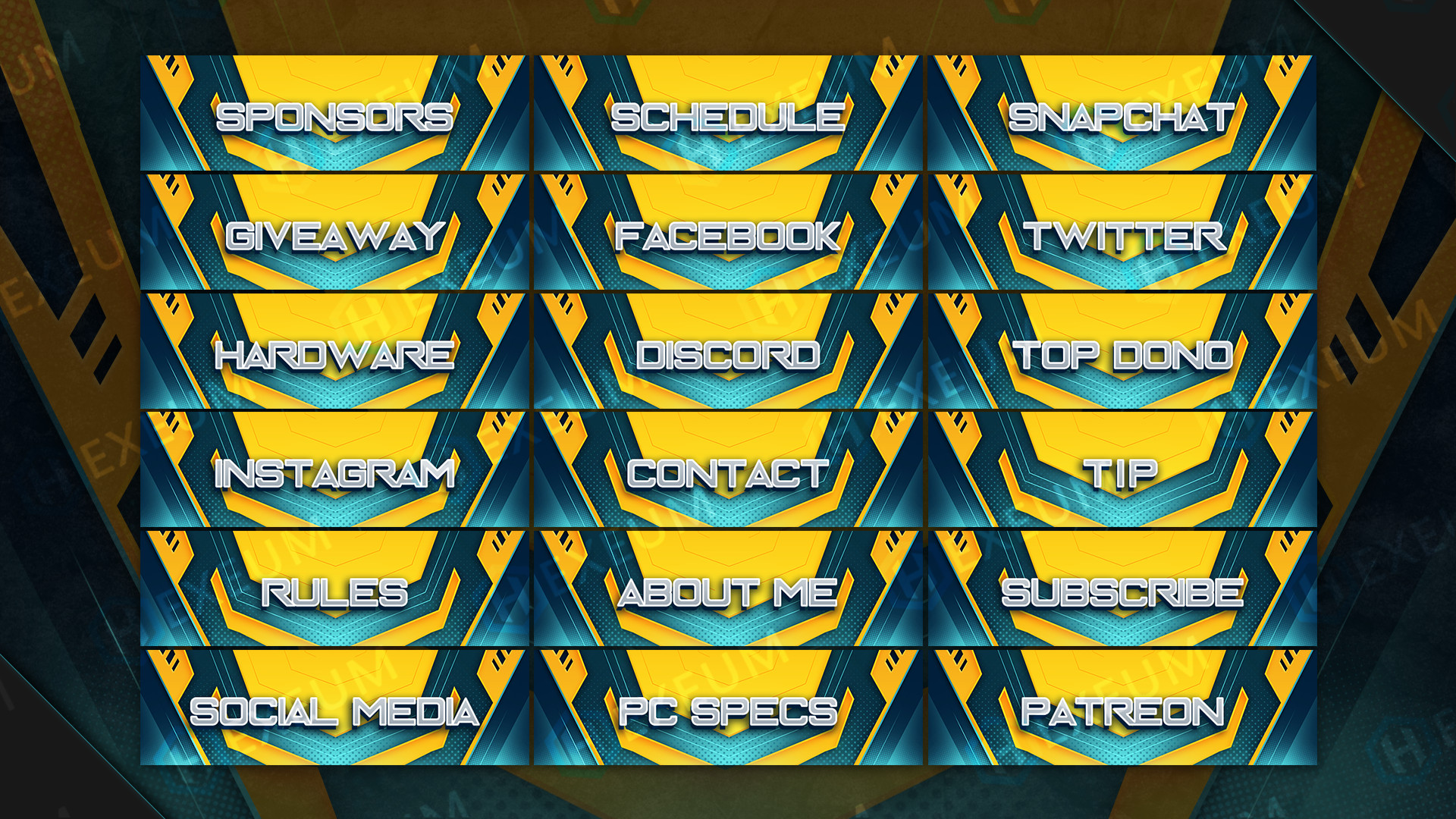 bright yellow webcam overlay