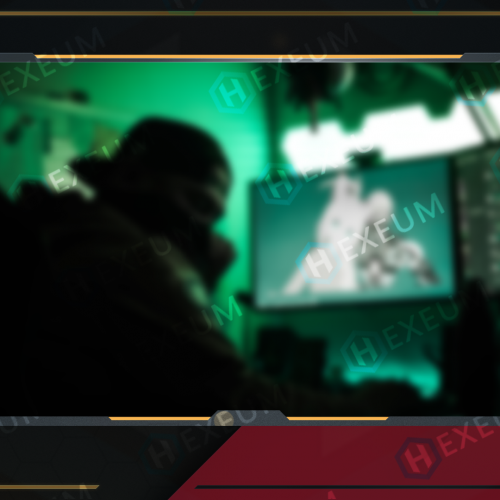 red and black webcam overlay