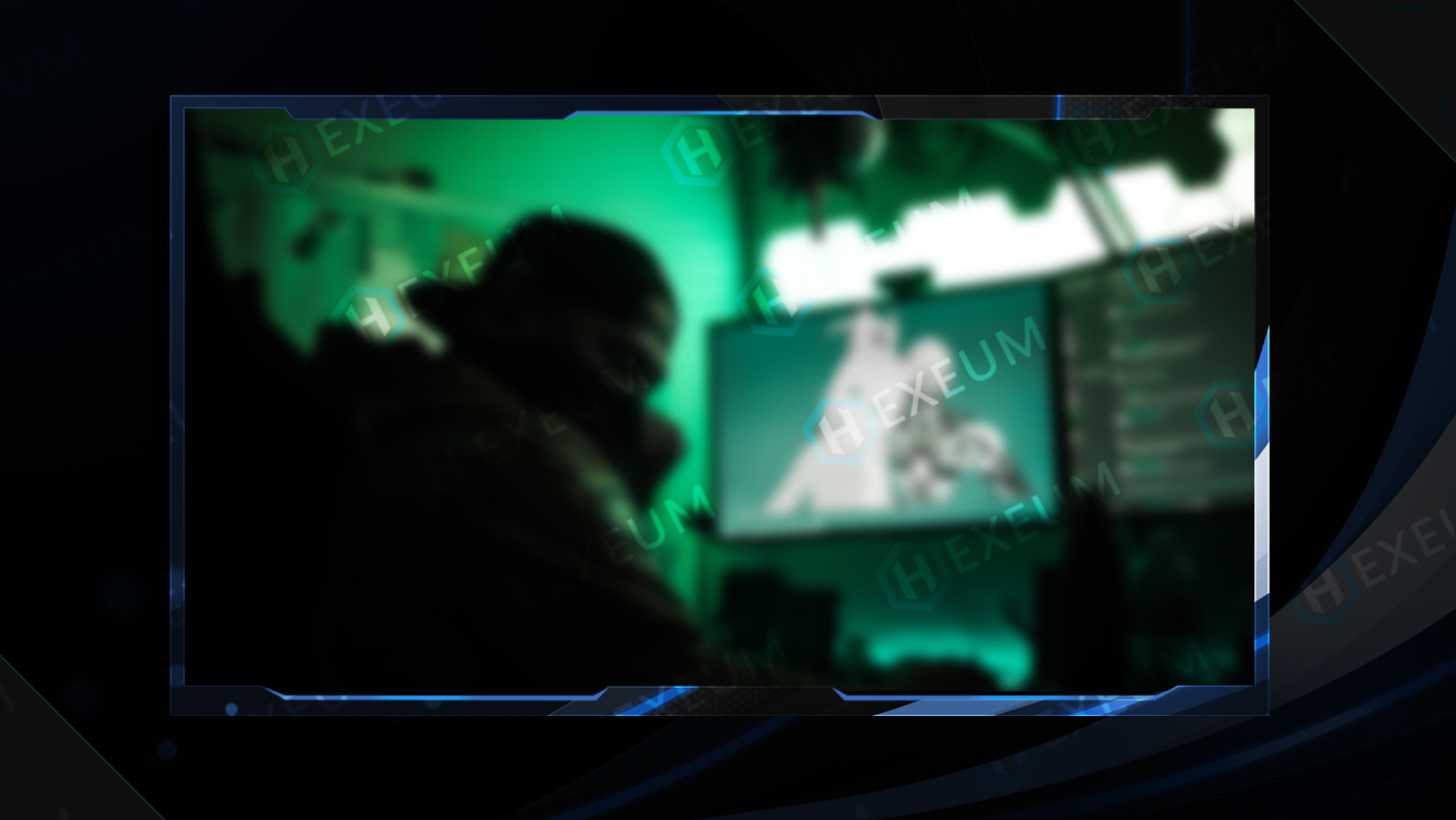 blue and white webcam overlay