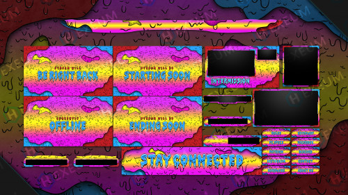 multicolored grime twitch overlay