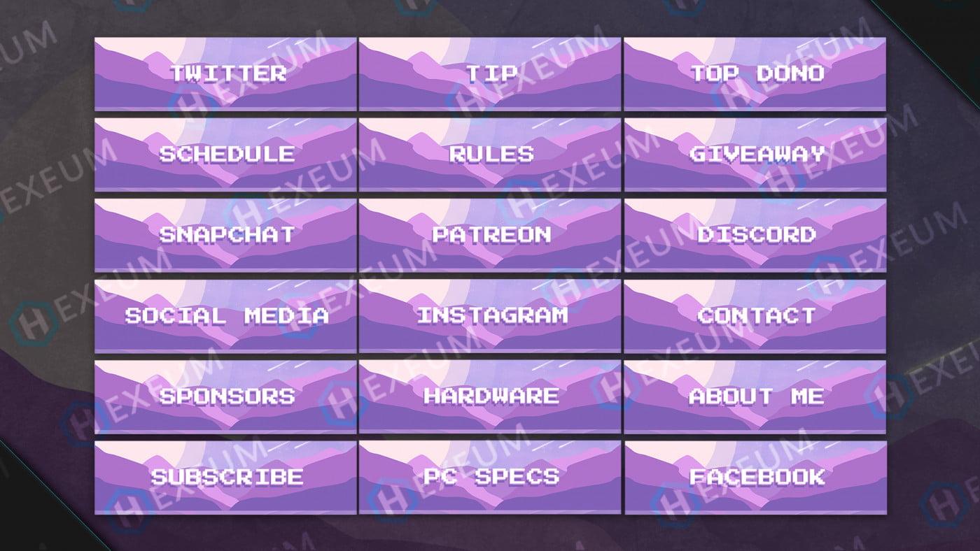 twitch pixel panels